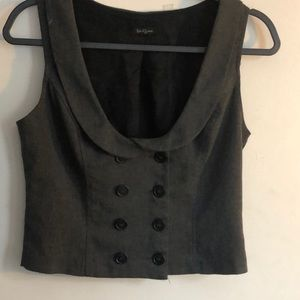 Forever 21 cute dark gray cropped vest